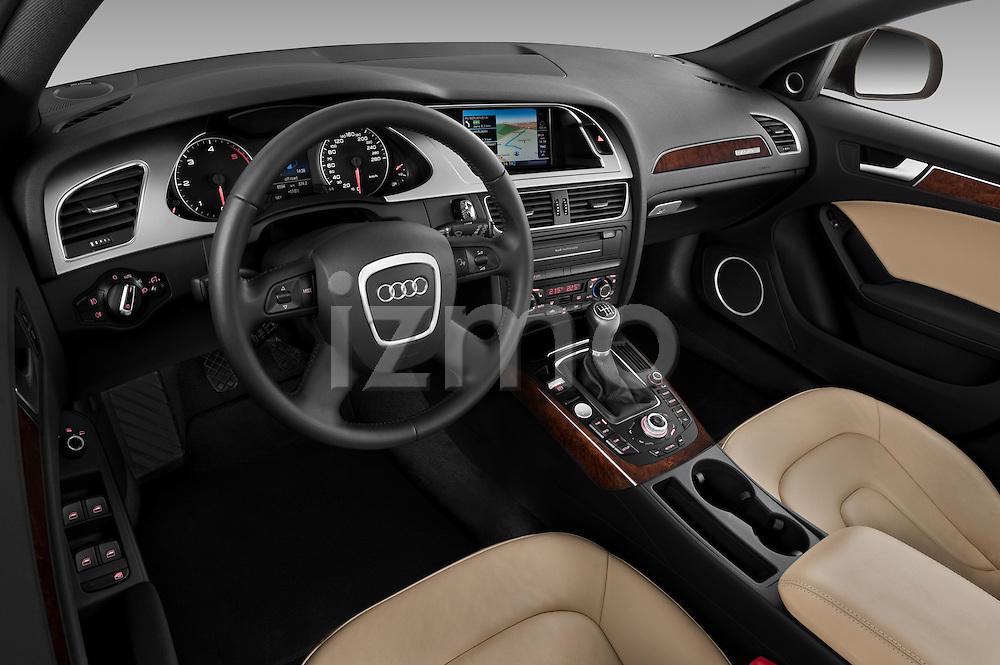 High angle dashboard view of a  2011 Audi A4 Allroad Quattro 2.0l TDI 5 Door Wagon