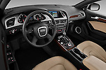 High angle dashboard view of a  2011 Audi A4 Allroad Quattro 2.0l TDI 5 Door Wagon