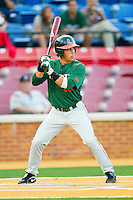 Nathan Melendres #10 of the Miami Hurricanes at bat against the Wake Forest Demon Deacons at Gene Hooks Field on March 18, 2011 in Winston-Salem, North Carolina.  Photo by Brian Westerholt / Four Seam Images