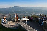 Europe/Espagne/Pays Basque/Guipuscoa/env de Fontarrabie: Au sommet du  Jaizkibel 584 m, Table d'orientation