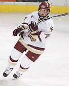 Matt Greene - The Boston College Eagles and Ferris State Bulldogs tied at 3 in the opening game of the Denver Cup on Friday, December 30, 2005, at Magness Arena in Denver, Colorado.  Boston College won the shootout to determine which team would advance to the Final.