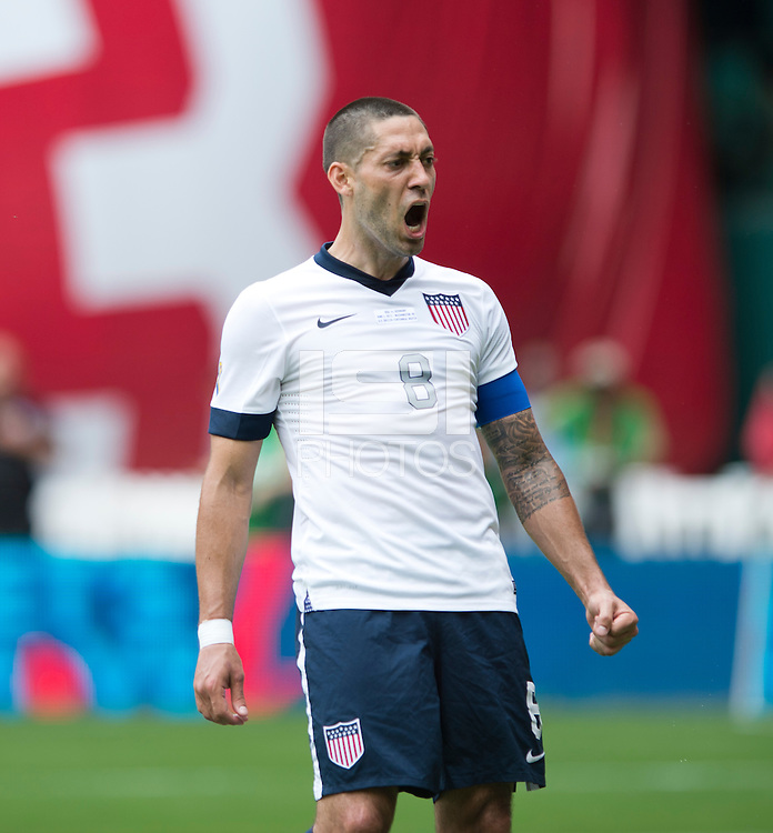 Clint Dempsey (8) of the USMNT reacts to missing a shot on goal during the game at RFK Stadium in Washington DC.  The USMNT defeated Germany, 4-3, in a friendly match.