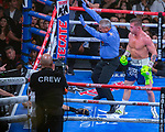 Canelo  Alvarez  (R) Guadalajara, Mex. defeats Sergey, Kovalev Chelyabinsk, Rus in the 11th round WBO Heavyweight Title