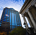 Fifth Third Building & old courthouse downtown Dayton Ohio