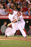 06/08/11 Anaheim, CA: Los Angeles Angels left fielder Vernon Wells #10 during an MLB game between the Tampa Bay Rays and The Los Angeles Angels  played at Angel Stadium. The Rays defeated the Angels 4-3 in 10 innings