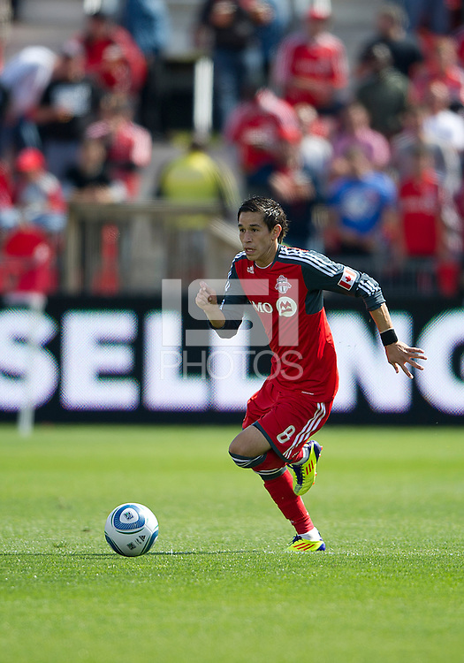 17 September 2011: Toronto FC midfielder Eric Avila #8 in action during an MLS game between the Colorado Rapids and the Toronto FC at BMO Field in Toronto, Ontario Canada..Toronto FC won 2-1.