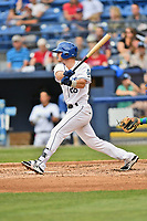 Asheville Tourists first baseman Taylor Snyder (28) swings at a pitch during a game against the Lexington Legends at McCormick Field on May 29, 2017 in Asheville, North Carolina. The Legends defeated the Tourists 6-2. (Tony Farlow/Four Seam Images)