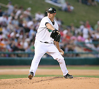 Zach Phillips of the Clinton Lumberkings during the Midwest League All-Star game.  Photo by:  Mike Janes/Four Seam Images