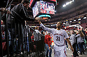 December 4, 2013: Shavon Shields (31) of the Nebraska Cornhuskers giving a high five to the  Husker fan after the game against the Miami (Fl) Hurricanes at the Pinnacle Bank Areana, Lincoln, NE. Nebraska defeated Miami 60 to 49.