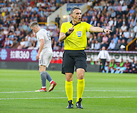 Referee Massimiliano Irrati<br /> <br /> Photographer Alex Dodd/CameraSport<br /> <br /> UEFA Europa League - Europa League Qualifying Round 2 2nd Leg - Burnley v Aberdeen - Thursday 2nd August 2018 - Turf Moor - Burnley<br />  <br /> World Copyright © 2018 CameraSport. All rights reserved. 43 Linden Ave. Countesthorpe. Leicester. England. LE8 5PG - Tel: +44 (0) 116 277 4147 - admin@camerasport.com - www.camerasport.com