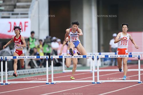 Satomi Kubokura (JPN), .JUNE 10, 2012 - Athletics : The 96th Japan Athletics National Championships Osaka 2012, Women's 400mH final .at Nagai Stadium, Osaka, Japan. (Photo by Akihiro Sugimoto/AFLO SPORT) [1080]