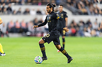 LOS ANGELES, CA - MARCH 08: Carlos Vela #10 of LAFC against Philadelphia Union during a game between Philadelphia Union and Los Angeles FC at Banc of California Stadium on March 08, 2020 in Los Angeles, California.
