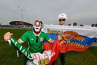 KAZAN, RUSSIA, 24.06.2017 - MEXICO-RUSSIA - Torcedores do México e da Russia pela terceira rodada da Copa das Confederações na Arena Kazan na Russia neste sábado 24 (Foto: Etzel Espinosa/Brazil Photo Press)