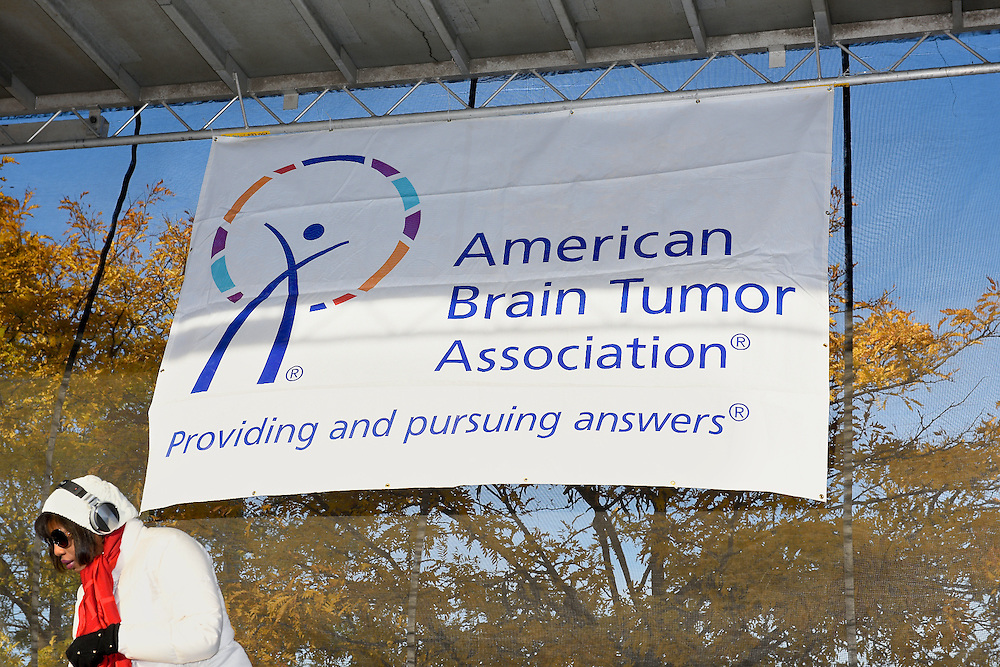 Signage for the American Brain Tumor Association at a fundraiser in NYC.