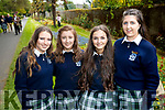 Katie Ahern, Sinead Kearney, Leona Stack and Aoife O'Sullivan, students from Presentation Secondary School, Tralee, attending their 6th year graduation, on Friday last.