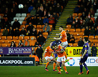 Blackpool's James Husband and Jay Spearing battle for the ball<br /> <br /> Photographer Alex Dodd/CameraSport<br /> <br /> The EFL Sky Bet League One - Blackpool v Tranmere Rovers - Tuesday 10th March 2020 - Bloomfield Road - Blackpool<br /> <br /> World Copyright © 2020 CameraSport. All rights reserved. 43 Linden Ave. Countesthorpe. Leicester. England. LE8 5PG - Tel: +44 (0) 116 277 4147 - admin@camerasport.com - www.camerasport.com
