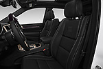 Front seat view of a 2017 Jeep Grand Cherokee Overland 5 Door SUV front seat car photos