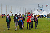 Some Scoutd from UK are walking to Time Avenue