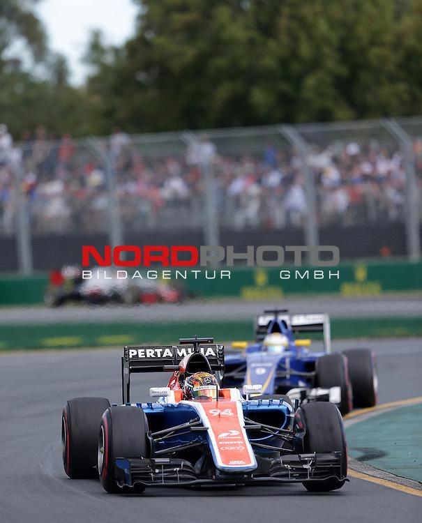 20.03.2016. Albert-Park-Circuit, Melbourne,  AUS, F1, Formula 1 Rolex Australien Grand Prix,  Race01 im Bild   <br /> Pascal Wehrlein (GER#94), Manor Racing MRT<br /> <br /> <br /> Foto &copy; nordphoto /  Bratic