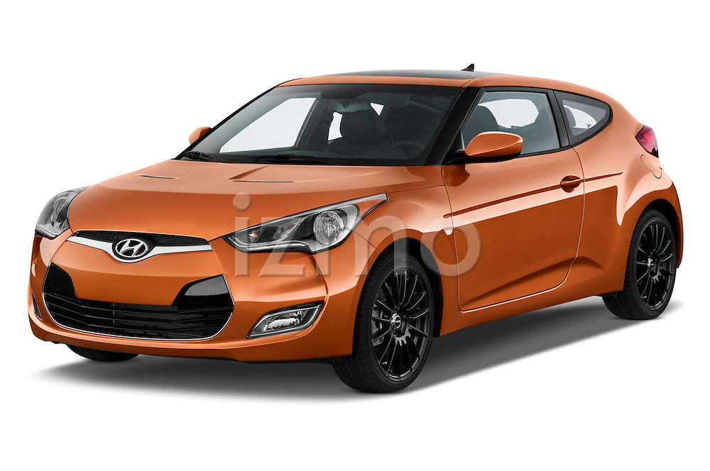 2016 Hyundai Veloster 1.6-Manual 4 Door Hatchback Angular Front stock photos of front three quarter view