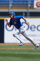 South Bend Cubs second baseman Carlos Sepulveda (2) running the bases during a game against the Lake County Captains on July 27, 2016 at Classic Park in Eastlake, Ohio.  Lake County defeated South Bend 5-4.  (Mike Janes/Four Seam Images)