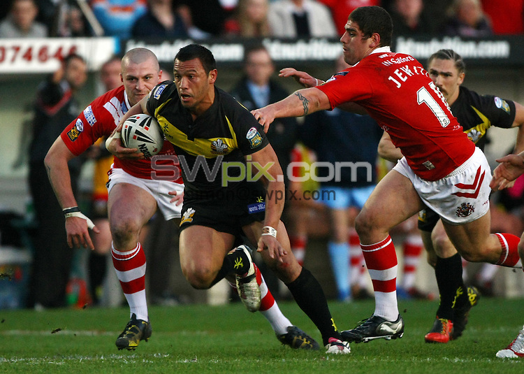 PICTURE BY VAUGHN RIDLEY/SWPIX.COM...Rugby League - Super League - Salford City Reds v Crusaders RL - The Willows, Salford, England - 02/04/11...Crusaders Jason Chan.