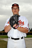 Feb 27, 2010; Tampa, FL, USA; Baltimore Orioles  pitcher Jason Berken (49) during  photoday at Ed Smith Stadium. Mandatory Credit: Tomasso De Rosa
