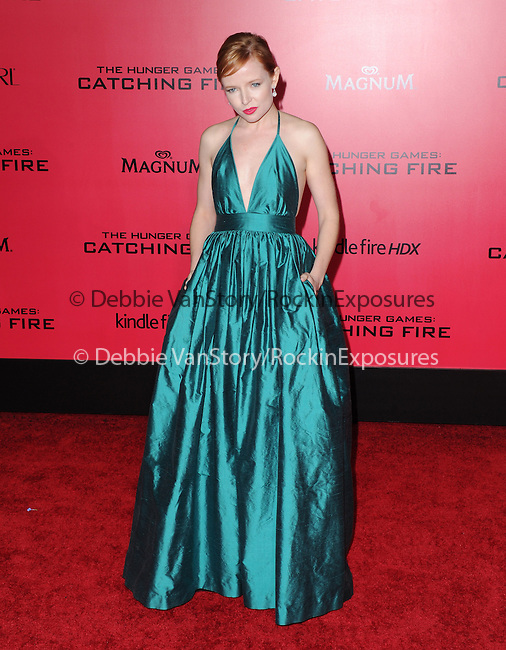 LOS ANGELES, CA - NOVEMBER 18: Stef Dawson arrives at   THE HUNGER GAMES: CATCHING FIRE L.A. Premiere held at Nokia Live  in Los Angeles, California on November 18,2012                                                                               © 2013  Hollywood Press Agency