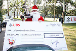 Operation Santa Claus on the sidelines of the Pro-Am golf tournament of the 58th UBS Hong Kong Open as part of the European Tour on 07 December 2016, at the Hong Kong Golf Club, Fanling, Hong Kong, China. Photo by Vivek Prakash / Power Sport Images