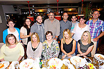 Mary Jo Connolly, Marian Pk, Tralee had a Surprise birthday at Gally's on Saturday Pictured front l-r   Helen O'Mahony, Catherine Keating, Mary jo Connolly, Norma Purtell, Lorraine Connolly, Back L to R - Clare Connolly, Martina Flynn, Barry Connolly, Michael Connelly, Brendan Connolly, Michael Keating, Anne Connolly, Declan Connolly