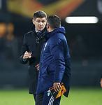 28.11.2019: Feyenoord v Rangers: Steven Gerrard at full time