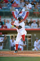 Florida Fire Frogs first baseman Carlos Castro (30) at bat during a game against the Daytona Tortugas on April 6, 2017 at Osceola County Stadium in Kissimmee, Florida.  Daytona defeated Florida 3-1.  (Mike Janes/Four Seam Images)