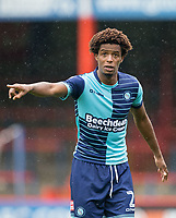 Sido Jombati of Wycombe Wanderers during the pre season friendly match between Aldershot Town and Wycombe Wanderers at the EBB Stadium, Aldershot, England on 22 July 2017. Photo by Andy Rowland.