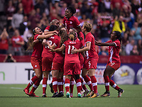 Vancouver, Canada - November 9, 2017: The USWNT tied Canada 1-1during an international friendly at BC Place.
