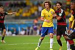 David Luiz (BRA), Sami Khedira (GER),<br /> JULY 8, 2014 - Football / Soccer : FIFA World Cup 2014 semi-finals match between Brazil 1-7 Germany at Mineirao stadium in Belo Horizonte, Brazil.<br /> (Photo by FAR EAST PRESS/AFLO)
