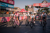 Maglia Rosa / overall leader Chris Froome (GBR/SKY) & team crossing the finish line in Rome as the 2018 Giro winner<br /> <br /> stage 21: Roma - Roma (115km)<br /> 101th Giro d'Italia 2018