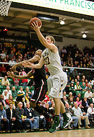 Tim Derksen of USF shoots the ball during the game against St. John's at War Memorial Gym in San Francisco, California on December 4th, 2012.   USF Dons defeated St. John's, 81-65.