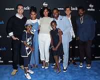 "10 June 2016 - Hollywood. Jeff Meacham, Miles Brown, Yara Shahidi,Tracee Ellis Ross, Marsai Martin, Anthony Anderson, Marcus Scribner, Deon Cole. Arrivals forFYC Event For ABC's ""Black-ish"" held at Dave & Busters. Photo Credit: Birdie Thompson/AdMedia"