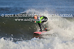 Kirsty Quigley Kamen surfs at Manasquan Inlet on Oct. 21, 2012