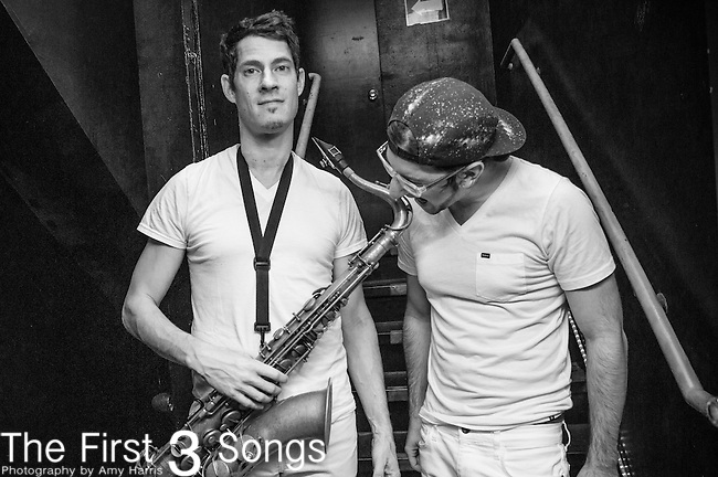 Dominic Lalli and Jeremy Salken of Big Gigantic performs at Bogarts in Cincinnati, Ohio.