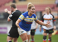 Picture by Anna Gowthorpe/SWpix.com - 15/04/2018 - Rugby League - Womens Super League - Bradford Bulls v Leeds Rhinos - Coral Windows Stadium, Bradford, England - Leeds Rhinos' Danika Primm reacts to the referee's decision