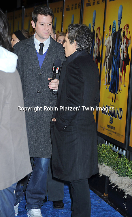 "Ben Lyons and Ben Stiller at the New York Premiere of "" Megamind"" .on November 3, 2010 at the AMC Lincoln Square Theatre."