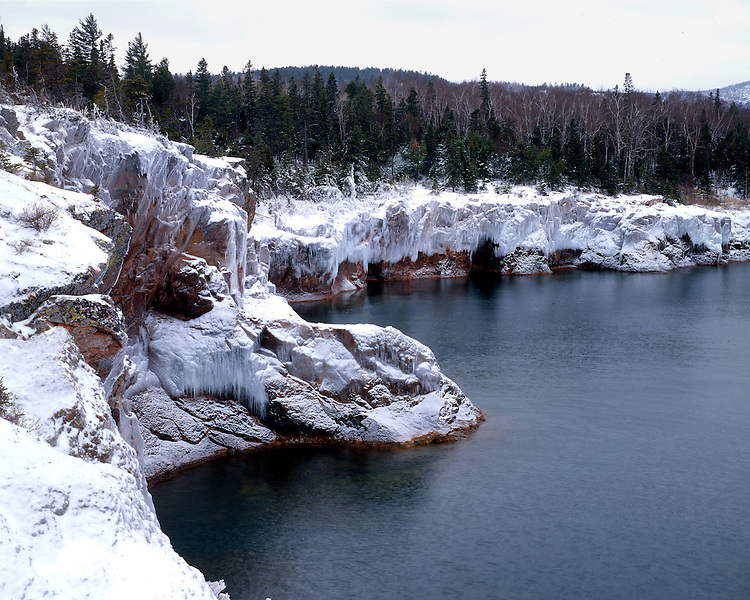 Shovel Point, Tettegouche State Park, Minnesota, February, 1988
