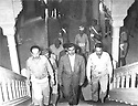 Iraq 1958 .Mustafa Barzani back from exile in Soviet union visiting Iraqi personalities in Baghdad.Irak 1958.Mustafa Barzani rentrant d'exil de l'Union Sovietique rendant visite a Bagdad a des personnalites irakiennes