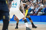 Real Madrid Jeffery Taylor and Fenerbahce Dogus Ali Muhammed during Turkish Airlines Euroleague match between Real Madrid and Fenerbahce Dogus at Wizink Center in Madrid , Spain. March 02, 2018. (ALTERPHOTOS/Borja B.Hojas)