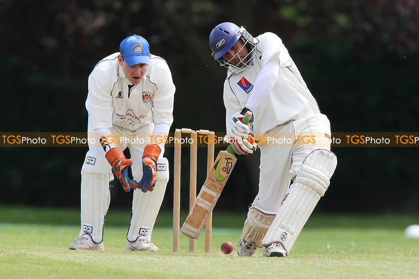 Chirag in batting action for Asian as Ben Jones keeps wicket for Hornchurch Ath - Hornchurch Athletic CC vs Asian CC - Lords International Cricket League - 13/06/09 - MANDATORY CREDIT: Gavin Ellis/TGSPHOTO - Self billing applies where appropriate - 0845 094 6026 - contact@tgsphoto.co.uk - NO UNPAID USE.