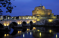 Italy, Rome, Castel San Angelo and the Tiber River
