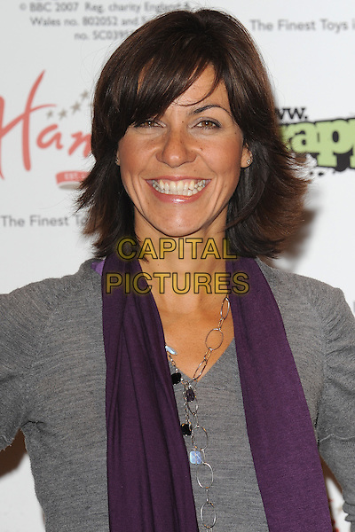 01/10/09: Julia Bradbury Wrappz &amp; BBC Children In Need 2009 - product range launch at Hamley's, Regent Street, London, England.<br /> CAP/CK<br /> &copy;CK/Capital Pictures