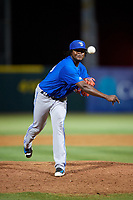 Dunedin Blue Jays relief pitcher Adonys Cardona (26) delivers a pitch during a game against the Florida Fire Frogs on April 10, 2017 at Osceola County Stadium in Kissimmee, Florida.  Florida defeated Dunedin 4-0.  (Mike Janes/Four Seam Images)