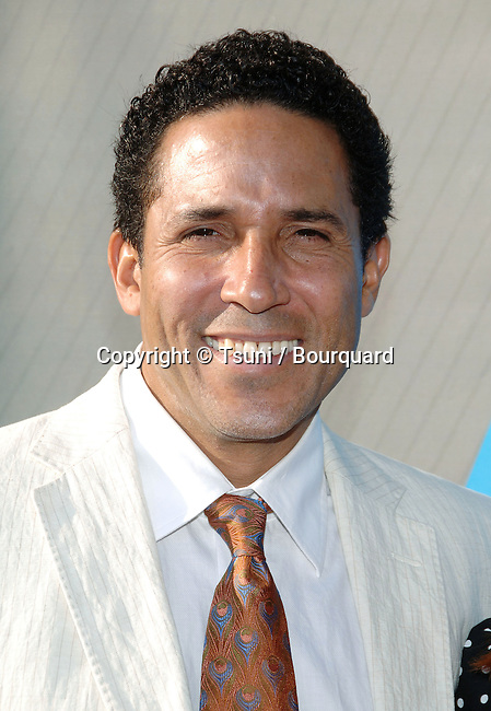 Oscar Nunez  arriving at the tca ( television critic association ) NBC Summer party on the roof of the Beverly Hilton Hotel in Los Angeles.<br /> <br /> headshot<br /> eye contact<br /> smile